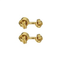 a pair of gold 'love knot' cufflinks by tiffany & company