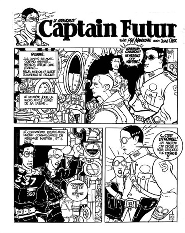 captain futur planche 28 by serge clerc