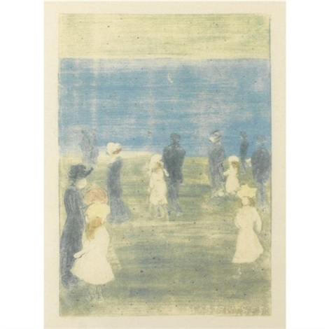 figures along the shore by maurice brazil prendergast