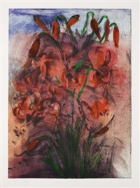 red pepper lilies by jim dine