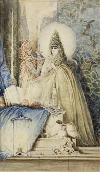 la prêtresse au hibou by adolfo de herrera