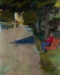 joven en el parque by joseph mompou