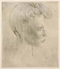 tete de femme, de profil by pablo picasso
