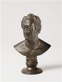 a bust of johann wolfgang von goethe (after christian daniel rauch) by leonhard posch