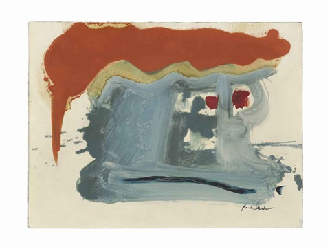 burnt orange roof by helen frankenthaler