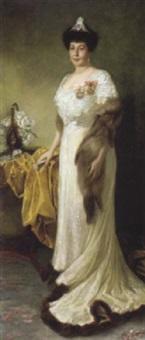 bildnis einer adeligen dame by mina loebell