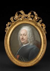 portrait d'homme, autrefois dit du graveur simon-charles miger by maurice quentin de la tour