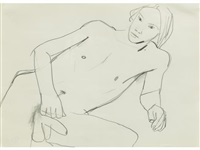 reclining male nude by keith vaughan