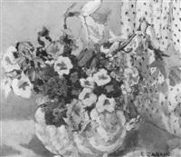 summer flowers in a vase by ethel gabain