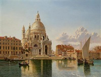 a view of santa maria della salute, venice by william h. burnett