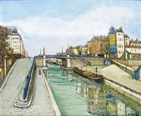 le pont sur le canal à pantin by alphonse léon quizet
