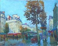 paris, scène animée sur les grands boulevards by constantine kluge