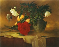still life and flowers by moni leibovitch