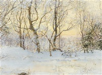 snow covered landscape by walter launt palmer