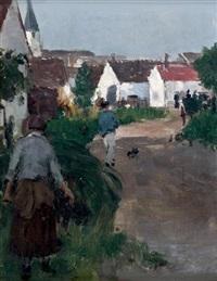 entrée du village d'epagny by norbert goeneutte