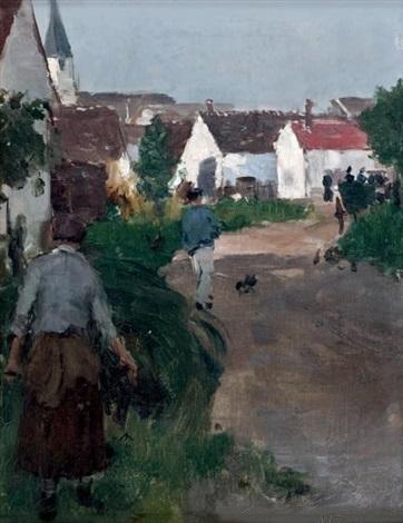 entrée du village depagny by norbert goeneutte