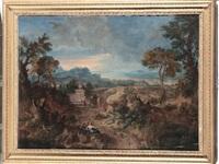 paesaggio con figure by gaspard dughet