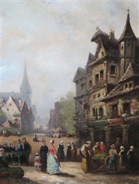 scène de village by guillaume françois colson
