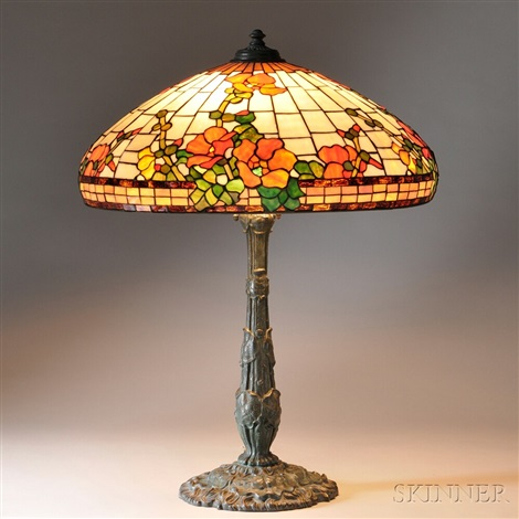 Large Mosaic Glass Table Lamp By Wilkinson (co.)