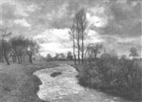 landschaft mit wasserlauf by adolf glatte