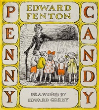 penny candy (sketch for penny candy by edward fenton) by edward gorey