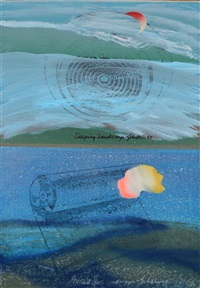 burping, seeping and troubling (3 works from the landscape series) by iain baxter