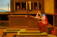 st. jerome in his study by vincenzo catena