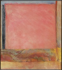pink plain 2 by frank bowling