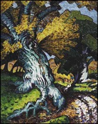 swirling tree by sybil andrews
