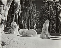 snow, yosemite by edward weston
