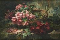 panier de roses by frans mortelmans