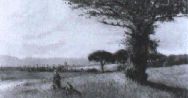paisaje cántabro con dos figuras by tomas campuzano y aguirre