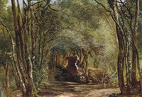 ruins in the forest by giovanni battista camuccini