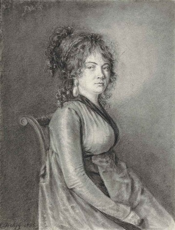 a seated lady by louis gabriel eugène isabey
