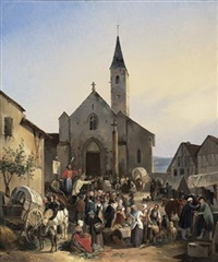 jour de marché au village by victor-jean adam