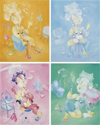 four works: me and my bubbles by liu tingting