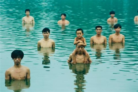 to raise the water level in a fish pond close up by zhang huan