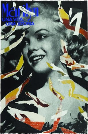 marilyn girl by mimmo rotella
