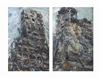 untitled (2 works) (in 2 parts) by ayman baalbaki