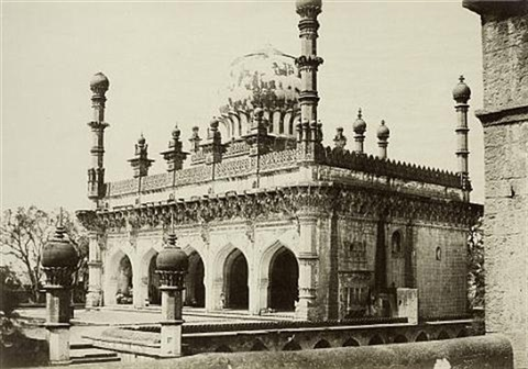 mosque of the ibrahim rauza bijapur by thomas biggs