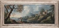 paesaggio con figura by paolo anesi