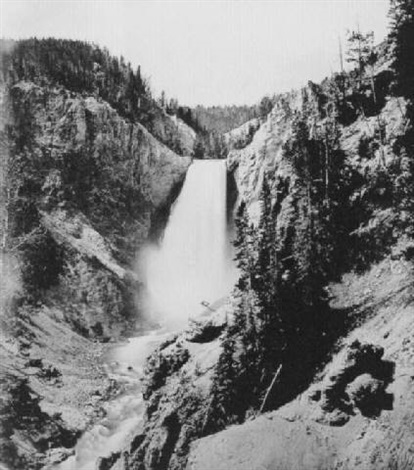 lower yellowstone falls by john k hillers