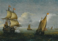 dutch shipping at sea by hans (johan) goderis