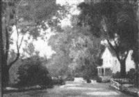 old lyme street scene by charles vezin