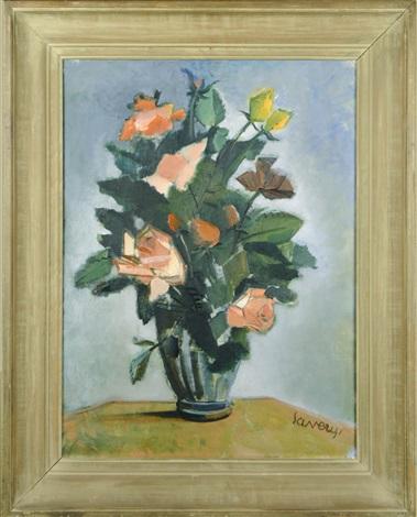 fleurs roses by albert saverys