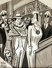 you might at least say 'aloha' dear (cartoon for 3/5/1938 issue of new yorker) by peter arno
