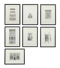 architecture (set of 16) by james basire the younger