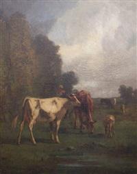 bergère et son troupeau by antonio cortés cordero
