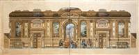 restauration du château d'altenhaus goldenberg prusse rhénane bati en 1682 par von lutchau et mansart (design) by françois victor adolphe riglet