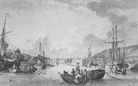 vue animée du port de toulon by pierre ozanne